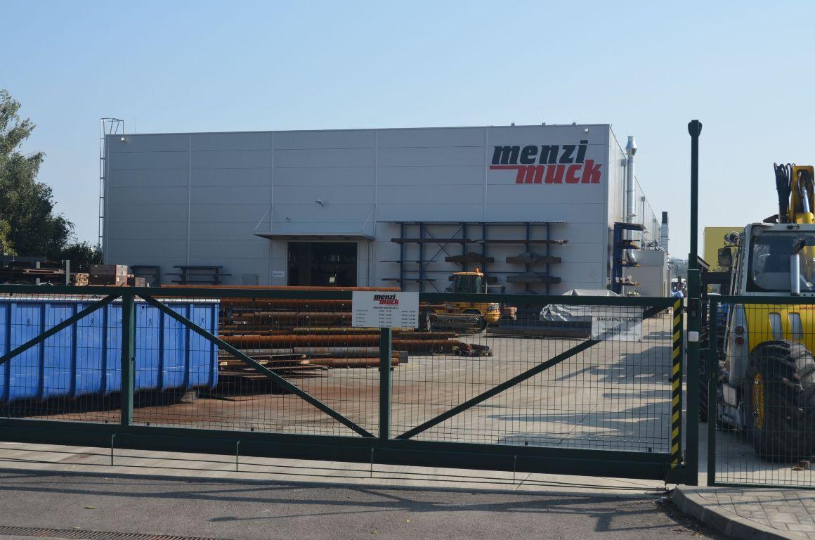 Výrobná hala MENZI MUCK priemyselný park Lužianky 1