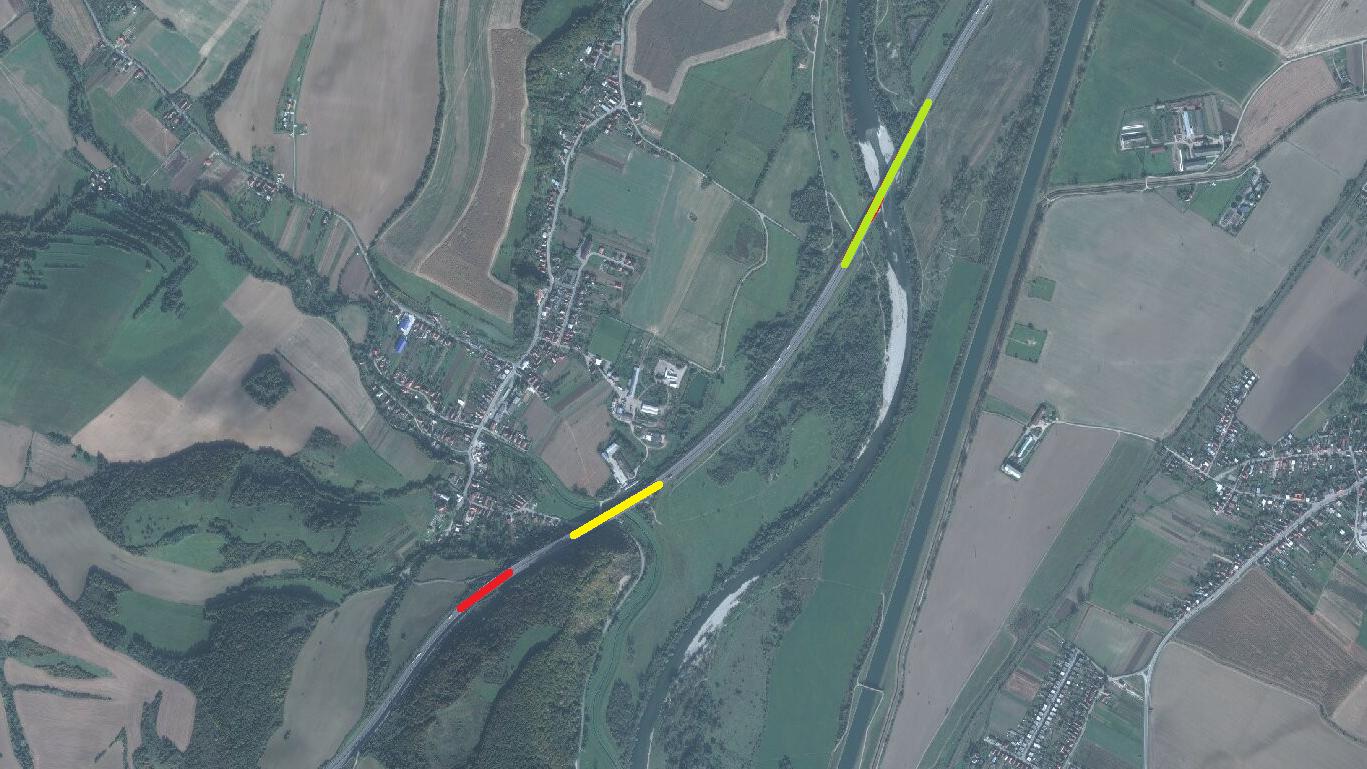 Sledovanie sadania mostov Trenčín-Skala